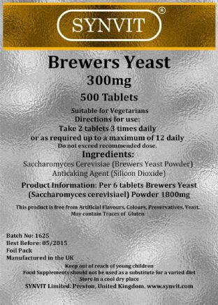 Brewers Yeast x 500 - Synvit